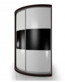 Радиусный шкаф - купе М14