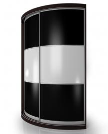 Радиусный шкаф - купе М15
