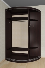 Радиусный шкаф - купе М13
